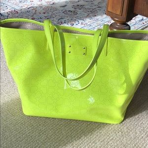 Large Kate Spade Neon Yellow Tote